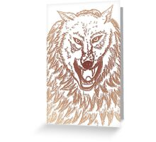 Abstract Wolf Sketch 3 Greeting Card