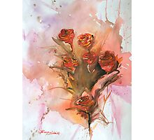 Paper Roses Photographic Print
