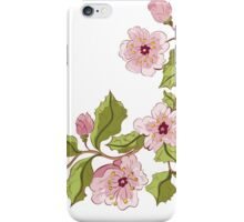 Colored Sketch of Sakura Branch 3 iPhone Case/Skin
