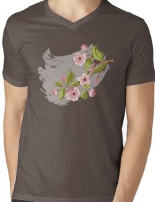 Colored Sketch of Sakura Branch 3 Mens V-Neck T-Shirt