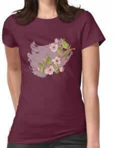 Colored Sketch of Sakura Branch 3 Womens Fitted T-Shirt