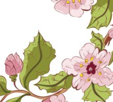 Colored Sketch of Sakura Branch 3 Sticker