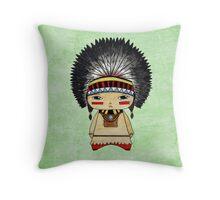 A Boy - Native American Throw Pillow