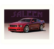 2008 Ford Mustang 'by Saleen' Art Print