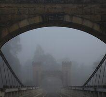 Bridge in the mist by Jesper Høgsdal