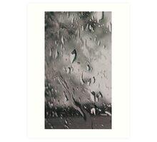 Storm passing looking through window 5th shot - April 29 Art Print