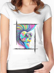 PUNKED Women's Fitted Scoop T-Shirt