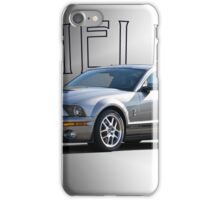 2009 Ford Mustang 'by Shelby' iPhone Case/Skin