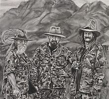 The Three Hunters by burntwoodstudio