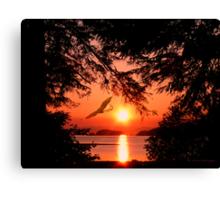 Sunrise Mountain Canvas Print