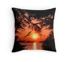 Sunrise Mountain Throw Pillow
