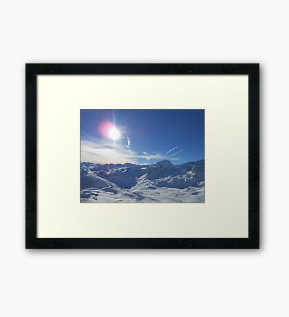 Beautiful Sky Over Mountain Framed Print