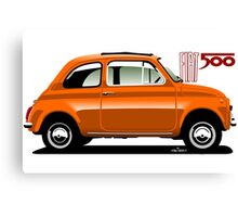 Classic Fiat 500F orange Canvas Print