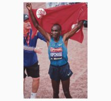 Eliud Kipchoge (KEN) Elite male winner of the Virgin money London Marathon One Piece - Short Sleeve