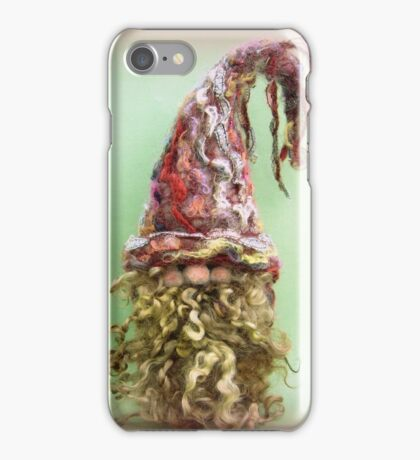 Gnapper the Gnome - Handmade needle felted creation from Teddy Bear Orphans iPhone Case/Skin