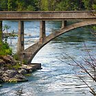 Post Falls Bridge by Tamara Valjean
