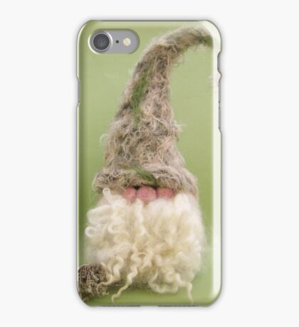 Gnestle the Gnome - Handmade needle felted creation from Teddy Bear Orphans iPhone Case/Skin