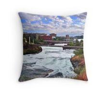 Spokane River Downtown Throw Pillow