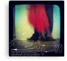 ~ dance lessons with Miss Veronique ~ Canvas Print