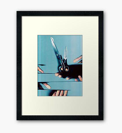 Cutting Everything Framed Print
