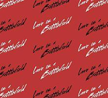 Love Is A Battlefield (white) by HEADLESSTORSO