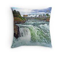 Spokane River Falls Throw Pillow