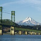 Columbia River Mount Hood by Christopher  Boswell