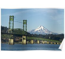 Columbia River Mount Hood Poster
