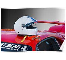 Ferrari Helmet & Gloves Poster