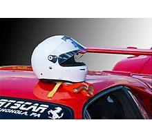 Ferrari Helmet & Gloves Photographic Print