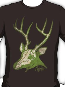 Inside the Deer - Grungy Deer Skull T-Shirt