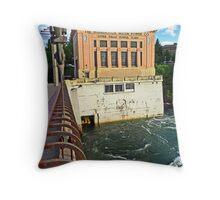 Spokane Upper River Power Plant Throw Pillow