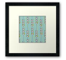 Freshtatic Chevron Arrows Illustration Pattern Framed Print