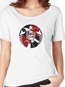 Quinn Coffee (Black+Red) Women's Relaxed Fit T-Shirt