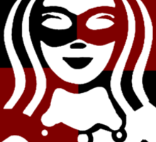 Quinn Coffee (Black+Red) Sticker