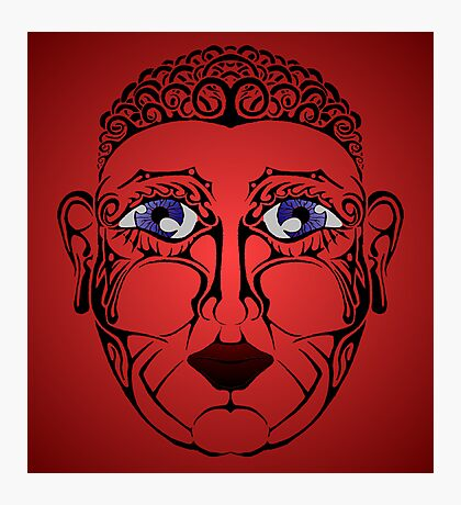 Red Face Photographic Print