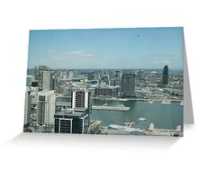 Melbourne Sky line view, looking over Docklands precinct Greeting Card