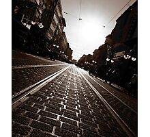 a City on Rails Photographic Print