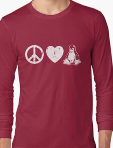 Peace Love And Linux Long Sleeve T-Shirt
