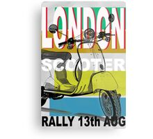 London Scooter Rally Metal Print