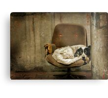 the Broken Chair Metal Print