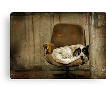 the Broken Chair Canvas Print