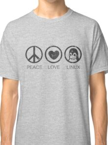 Peace Love And Linux Classic T-Shirt