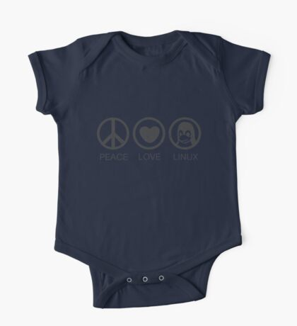 Peace Love And Linux One Piece - Short Sleeve