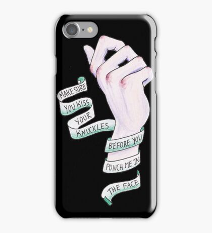 Kiss your Knuckles - The Front Bottoms iPhone Case/Skin
