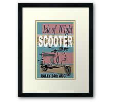 Isle of Writer Scooter Rally Framed Print