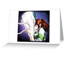 Spirited Away - Chihiro & Haku Greeting Card