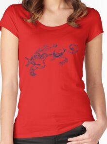 Cat Robot #1 Racer  Women's Fitted Scoop T-Shirt