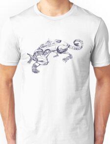 Cat Robot #1 Racer  Unisex T-Shirt