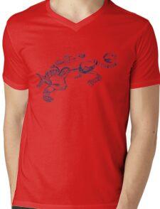 Cat Robot #1 Racer  Mens V-Neck T-Shirt